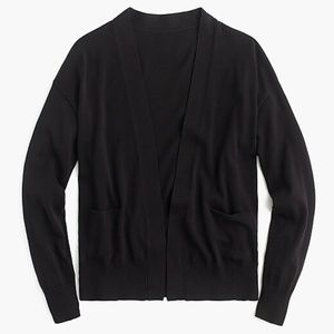 J Crew Open Front Cropped Cardigan with Pockets